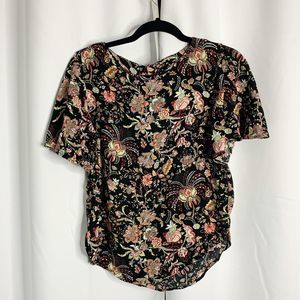 H&M black floral blouse 8